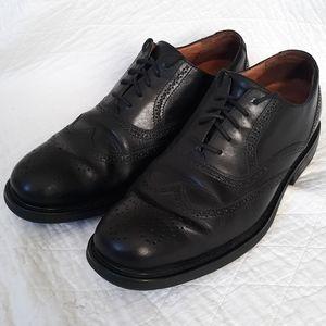 Florsheim Black Leather Wingtip Oxford Shoes 12M